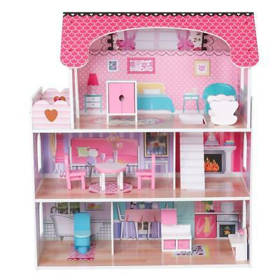 Kids Dream House Play Dollhouse Furniture Girls Playhouse To