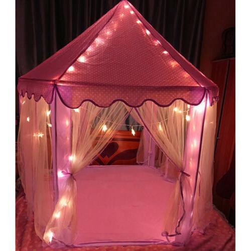Girls Princess Play Tent Large Toy Pink + Star