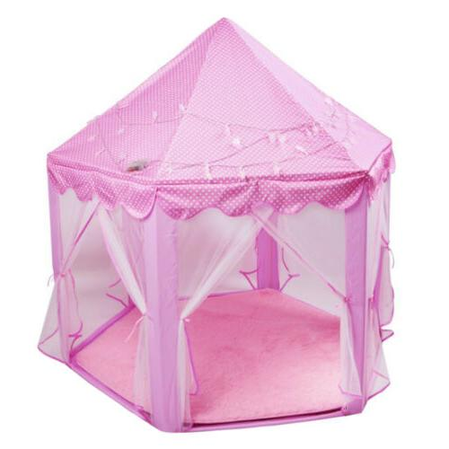 Girls Play Tent Large Toy + Rug + Star