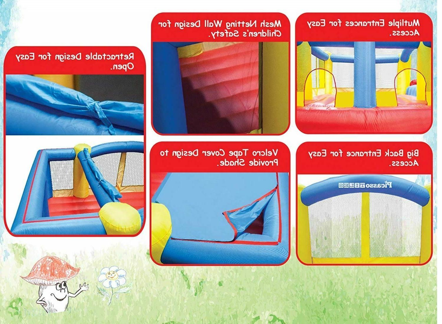 Inflatable Jumping House Slide with New