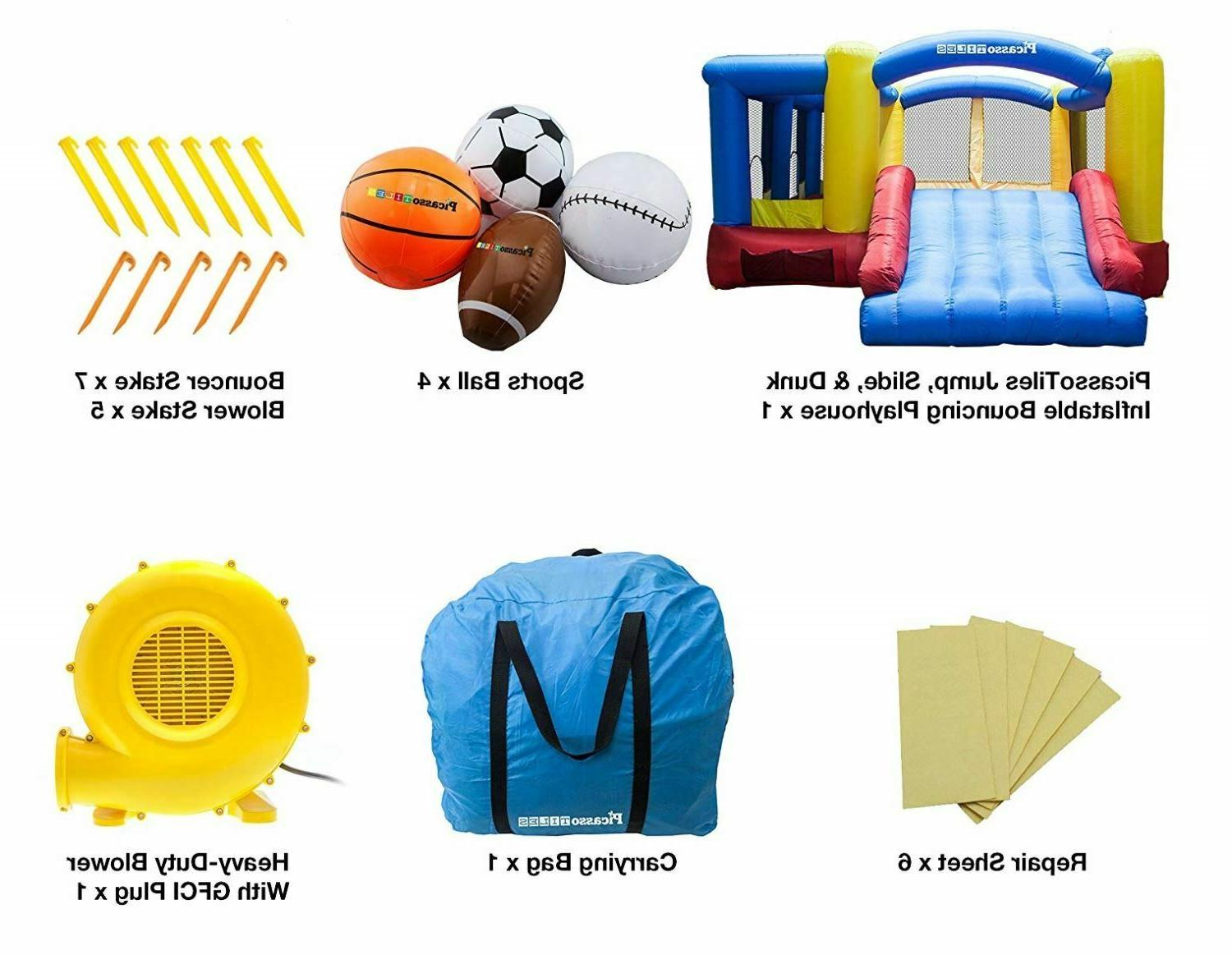 Inflatable Slide Balls Kids Playhouse with