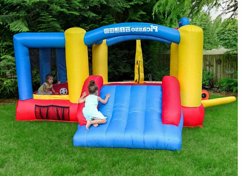 inflatable bounce jumping house slide balls kids