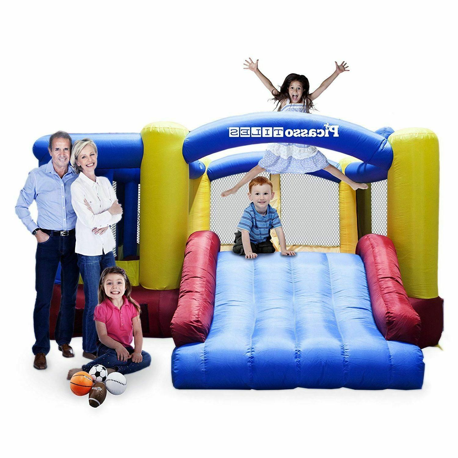 Inflatable House Slide Balls Kids with Blower New