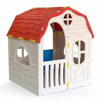 kid s cottage foldable plastic toddler outdoor