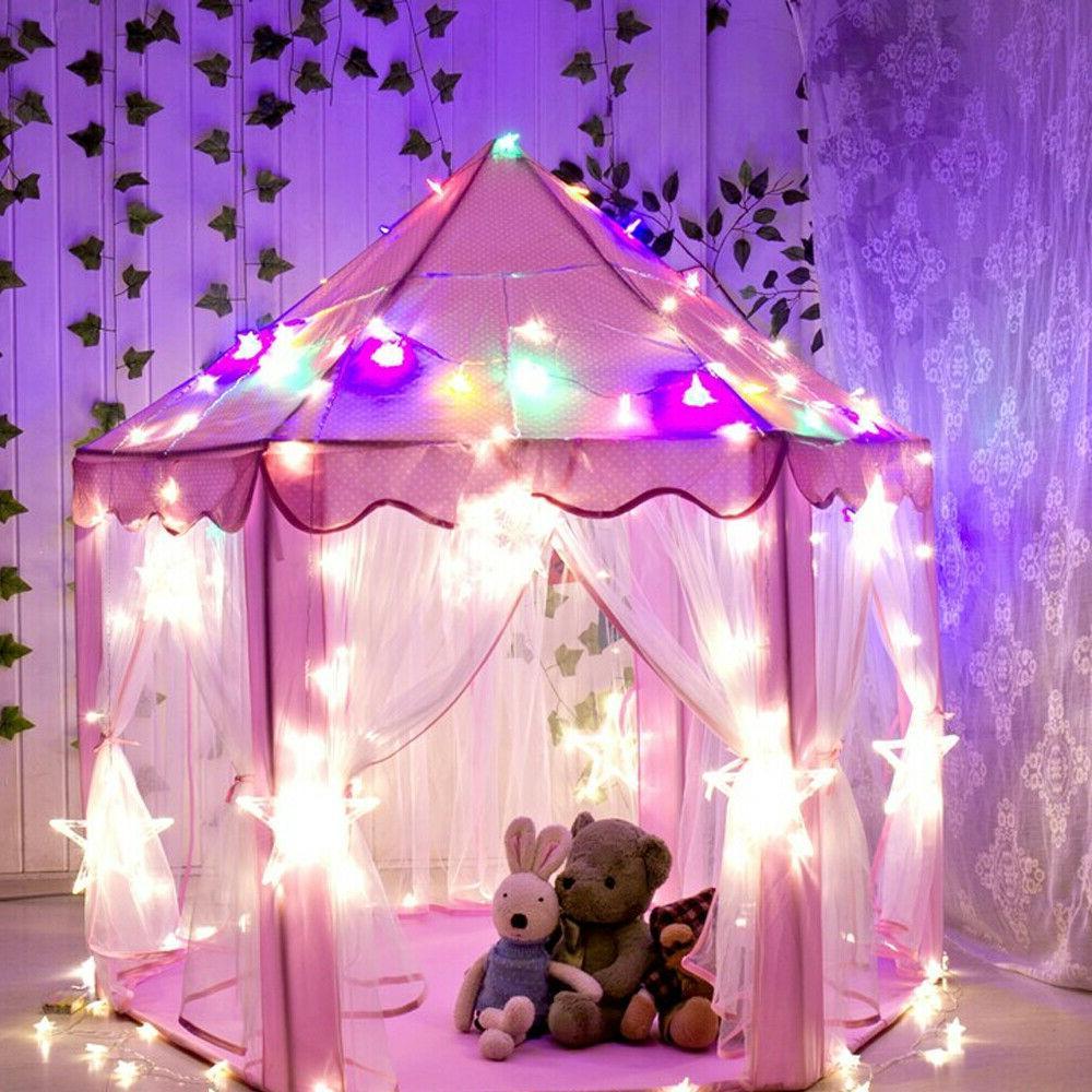 Cute Kids Play Tent LED