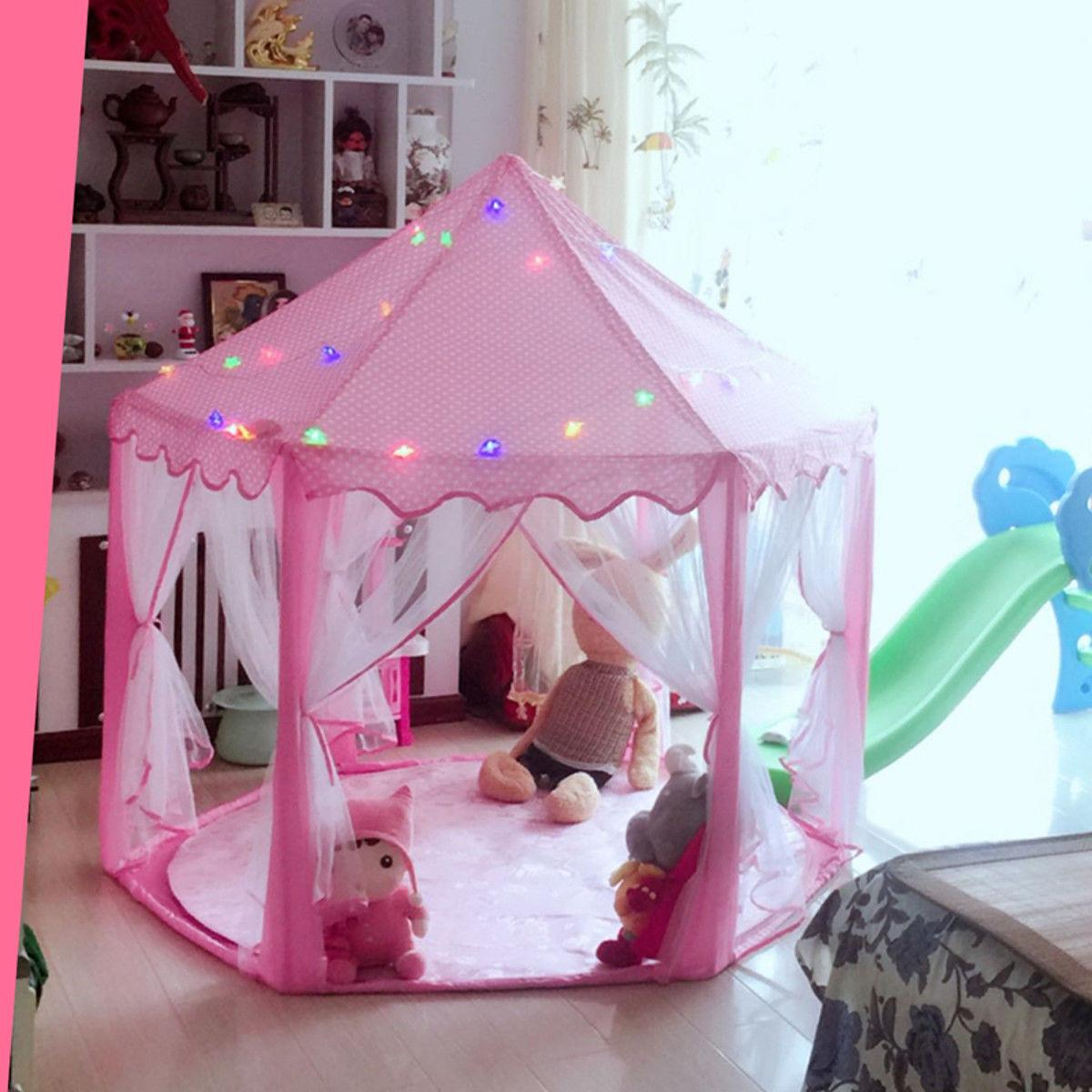 Girls Castle Cute Playhouse Kids Play 6M LED
