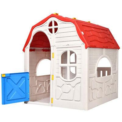Kids Cottage Foldable Portable Plastic Large Interior Space