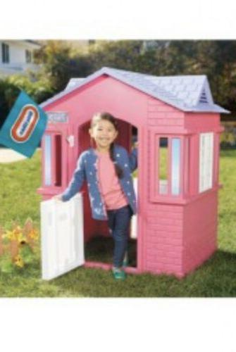 Kids Cottage Playhouse Style Play Outdoor Pink