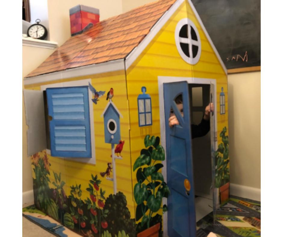 Playhouse for Kids Outdoor Indoor Cardboard Toy Portable Cas
