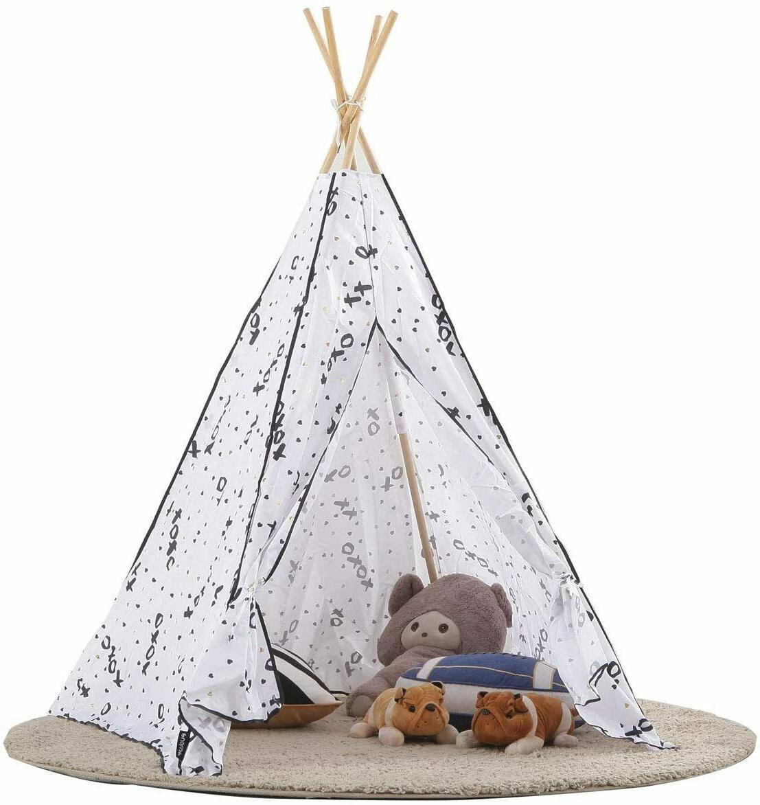 MallBest Kids Indian Tent Playhouse Canvas