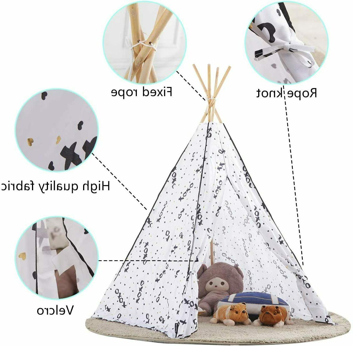 MallBest Kids Indian Tent Children Playhouse Canvas Portable