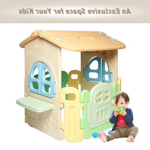 kids playhouse arc edge plastic toddler game