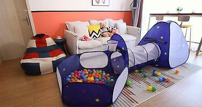 Homfu Kids Tent with Tunnel Pop-Up Ball Pit Basket