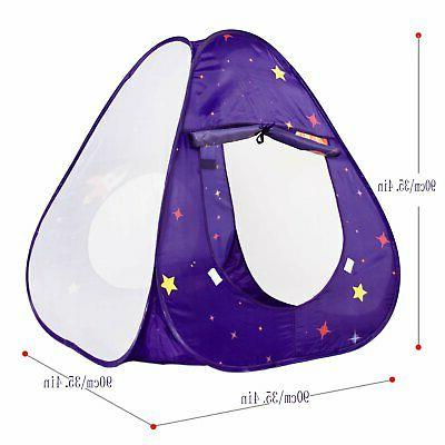 Homfu Kids with Tunnel Pop-Up Ball and Hoop fo...