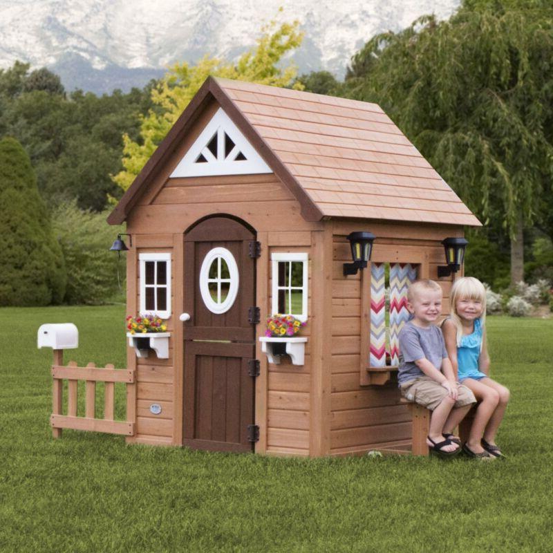 Kids Cedar Playhouse Play NEW