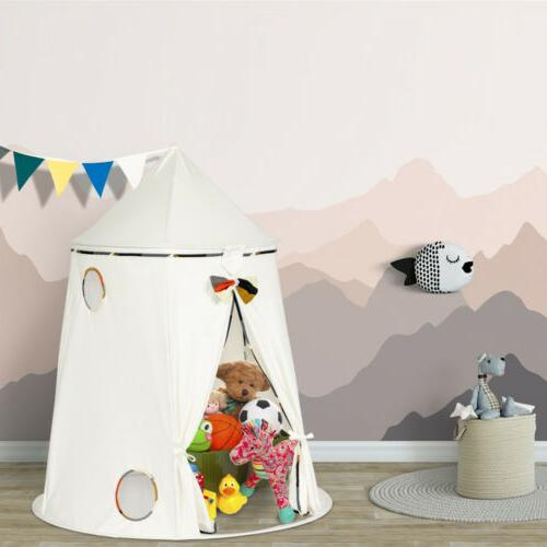Large Cotton Teepee Tent Childrens Wigwam Indoor Outdoor House