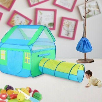 Large Kids Children Pop-Up Playhouse Tunnel Toys Outdoor Indoor