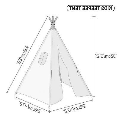 Large Teepee Indoor Children Tipi Playhouse