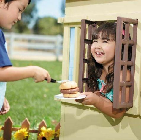 Little Tikes Cape Playhouse Tan Kids Boys-Girls