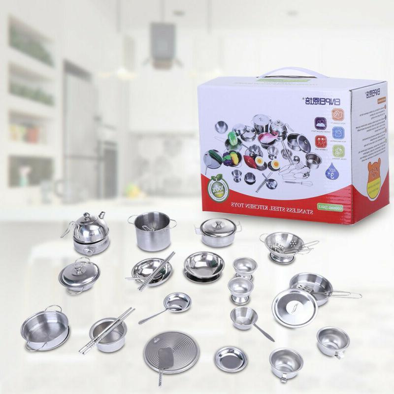 Mini Anti-Fall Steel Kitchen Toy Set