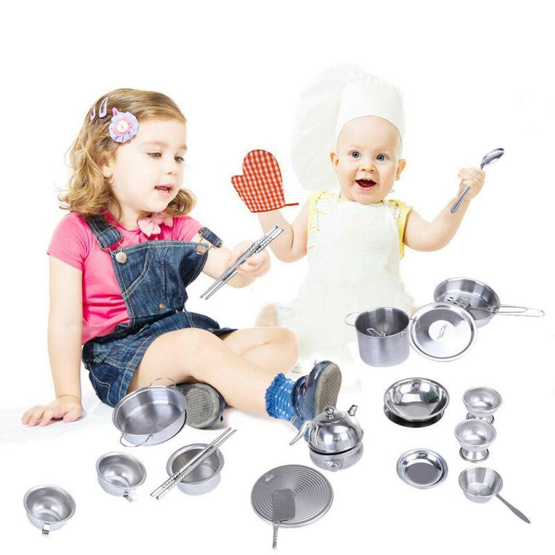 Mini Steel Children's Kitchen Toy Set