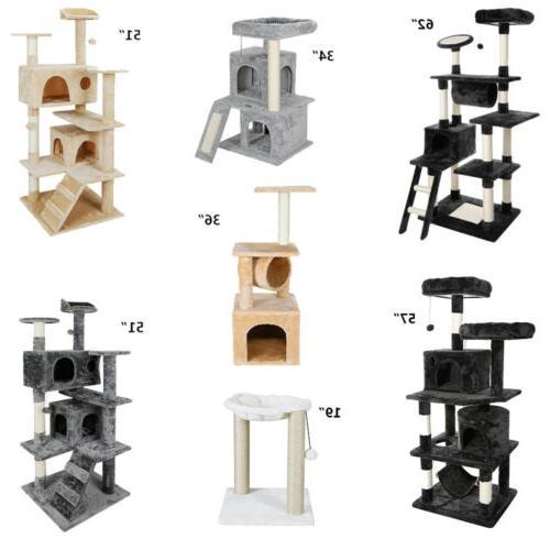 multiple sizes cat tree tower condo furniture