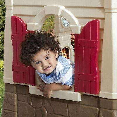Step2 Neat and Cottage Playhouse for Toddlers Blue