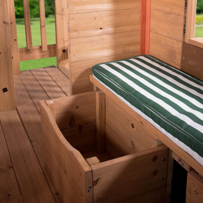 Outdoor Cedar Pretend Wood Cot