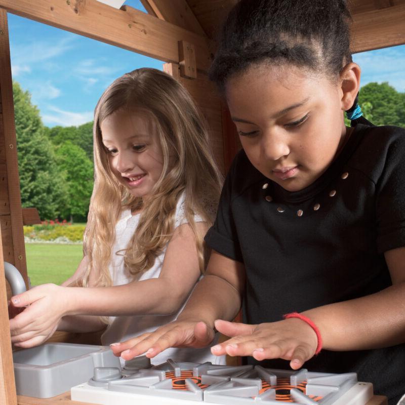 Outdoor Playhouse Cedar Pretend Wood Cot
