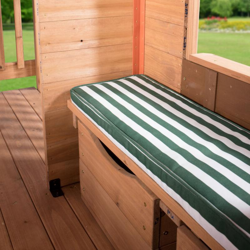 Outdoor Wooden Cedar Pretend Wood Cot Toy-Boxes