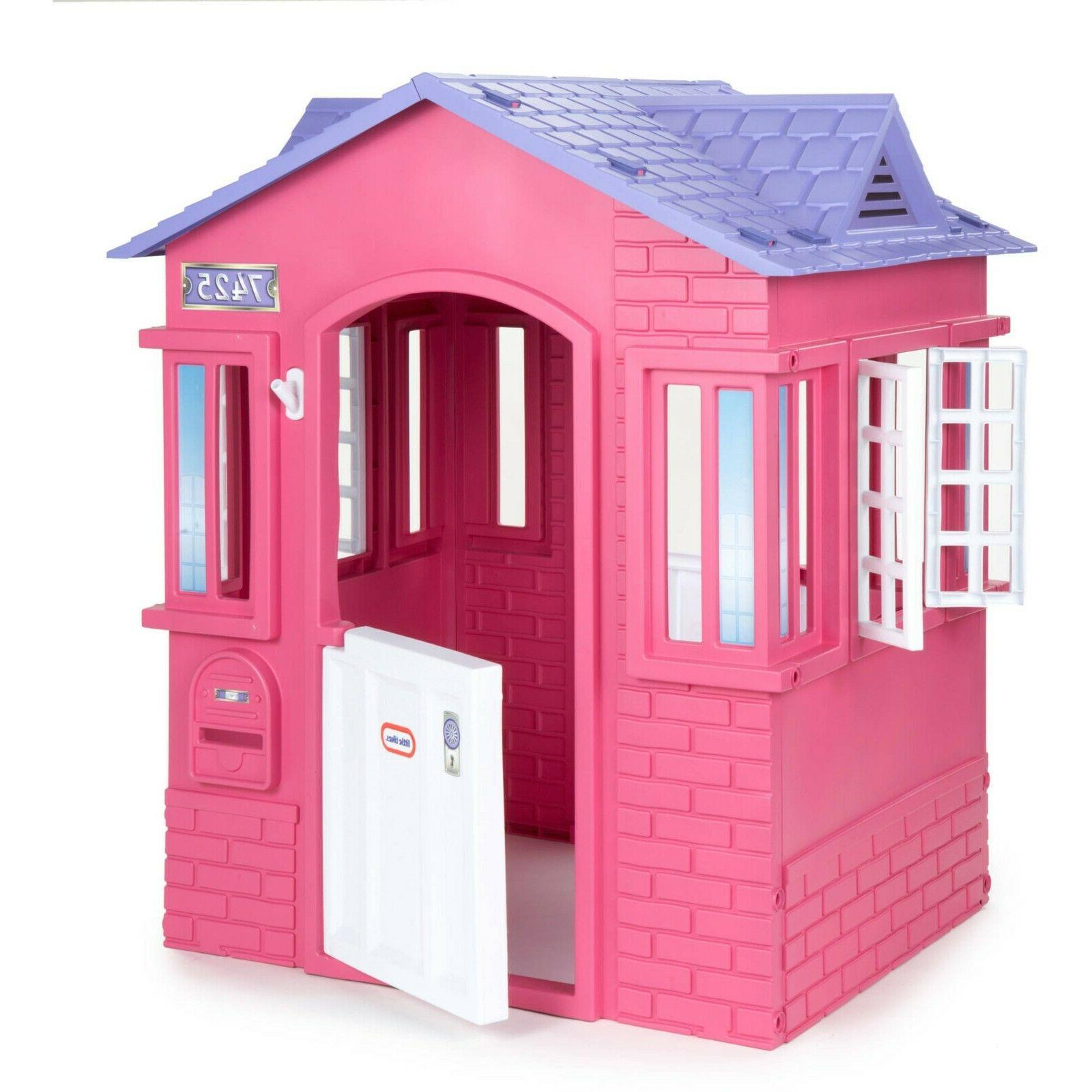 princess kids cottage playhouse contemporary plastic outdoor