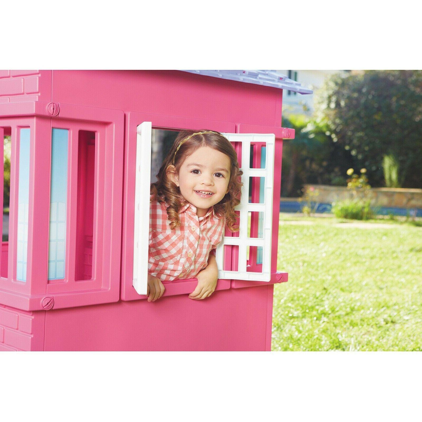 Plastic Pretend House Toddler Indoor Outdoor Fun