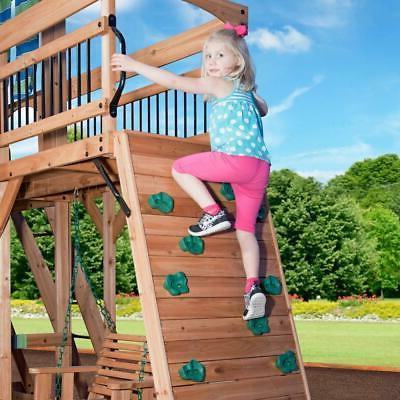 Outdoor Slide Playset Wooden Stairs New