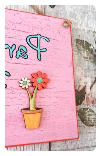 Pink Sign - Children's Plaque