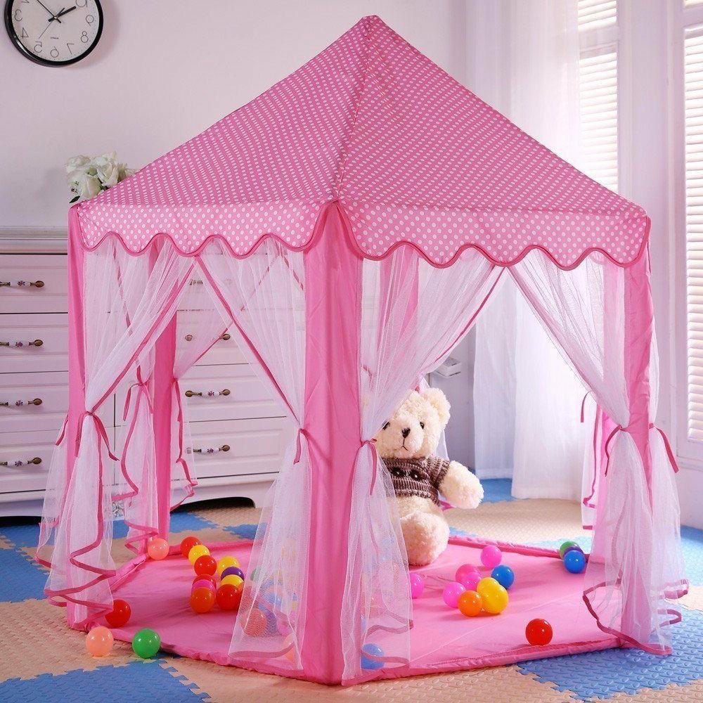 Pink Castle Girls Large Indoor/Outdoor Play Tent