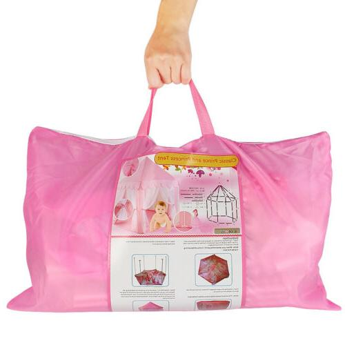 Pink Girls House Large Indoor/Outdoor Play Tent