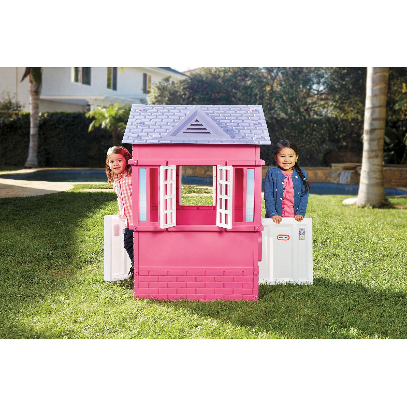 Play House for Girls Pink Princess Cottage Outdoor Indoor Te