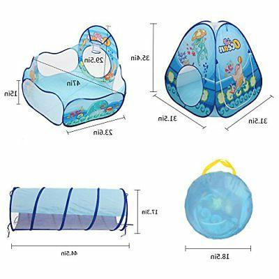 Kids Tunnel, Ball Pit House for Babies Outdoor
