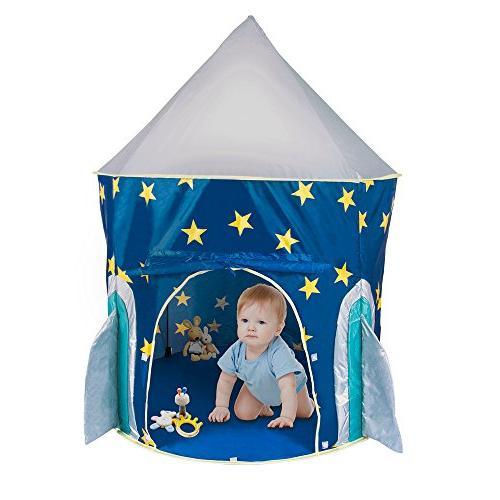 play tent rocket ship indoor