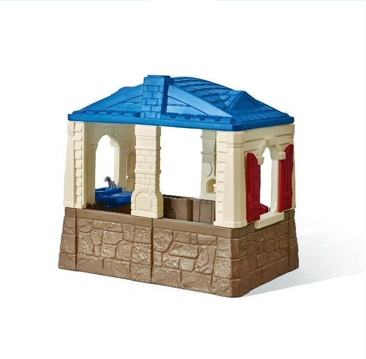 Playhouse Cottage Children Outdoor Backyard Open