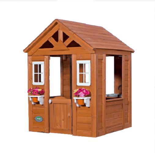 PLAYHOUSE KIDS HOUSE w/ Accessories Cedar Wood