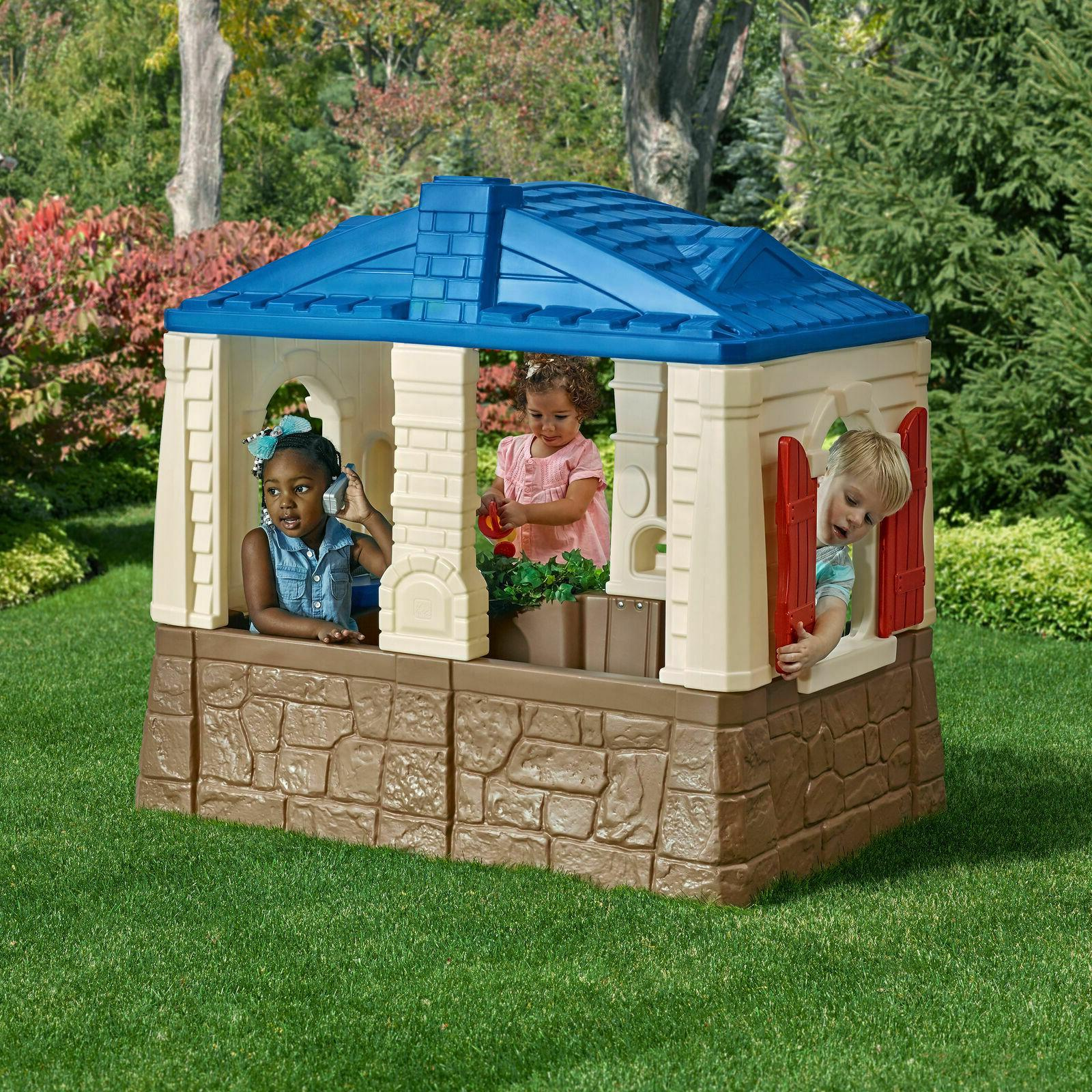 playhouse kids play cottage playset outdoor toy