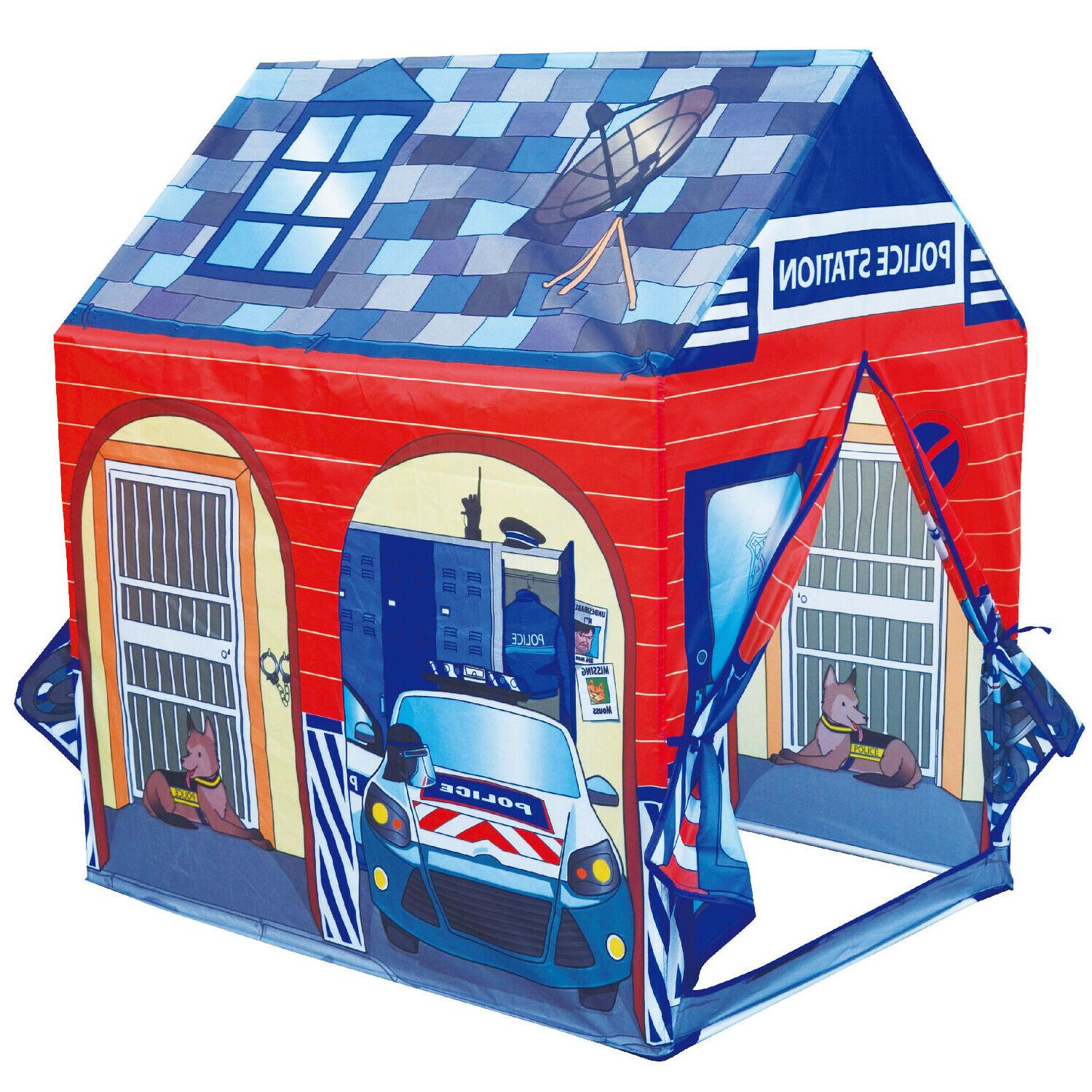 police station play tent kids pretend super