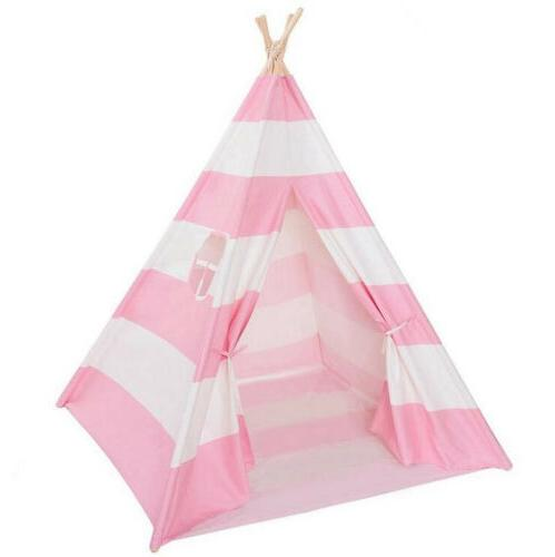 Portable Playhouse Sleeping Dome Indian Tent Play House Pink