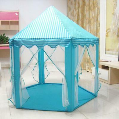 Portable Tent Kids Castle Outdoor Blue