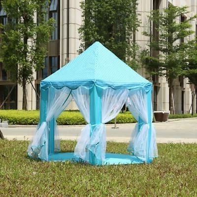 Portable Up Tent Kids Princess Castle PlayHouse Blue