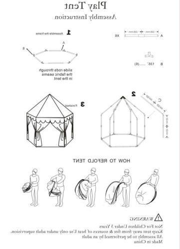 Princess Castle Large Indoor/Outdoor Tent Pink