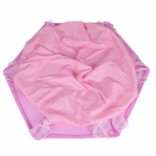 Girls Pink Cute Playhouse Play Tent LED