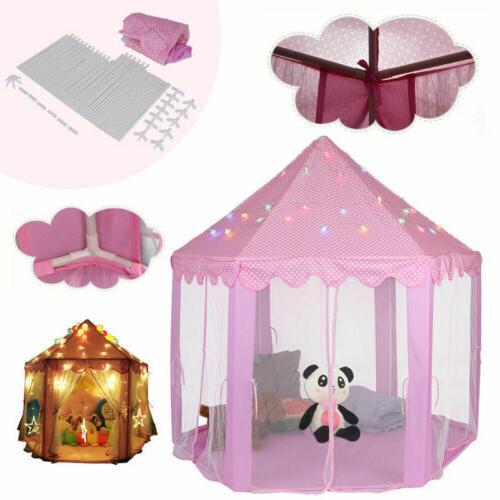 Girls Pink Princess Cute Children Play LED Light