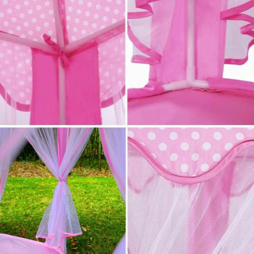 Princess Castle Tent for Large Hexagon Playhouse Indoor